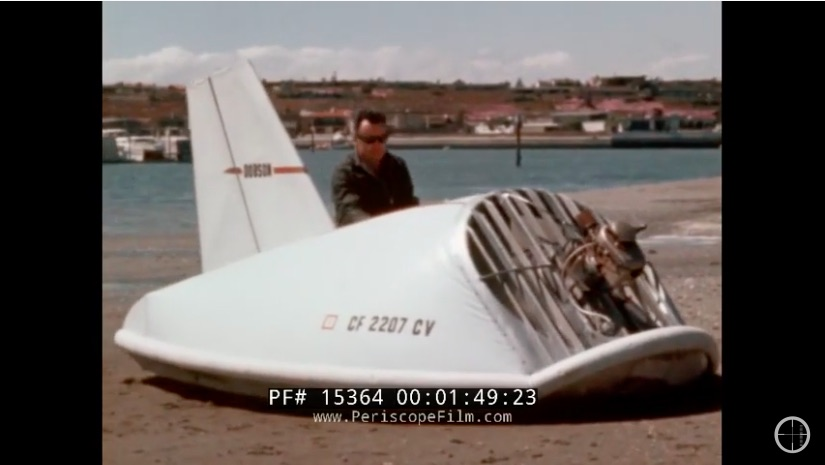 Fun 1960s Video: Check Out Franklin Dobson Testing Out His DIY Hovercraft On Land and Sea