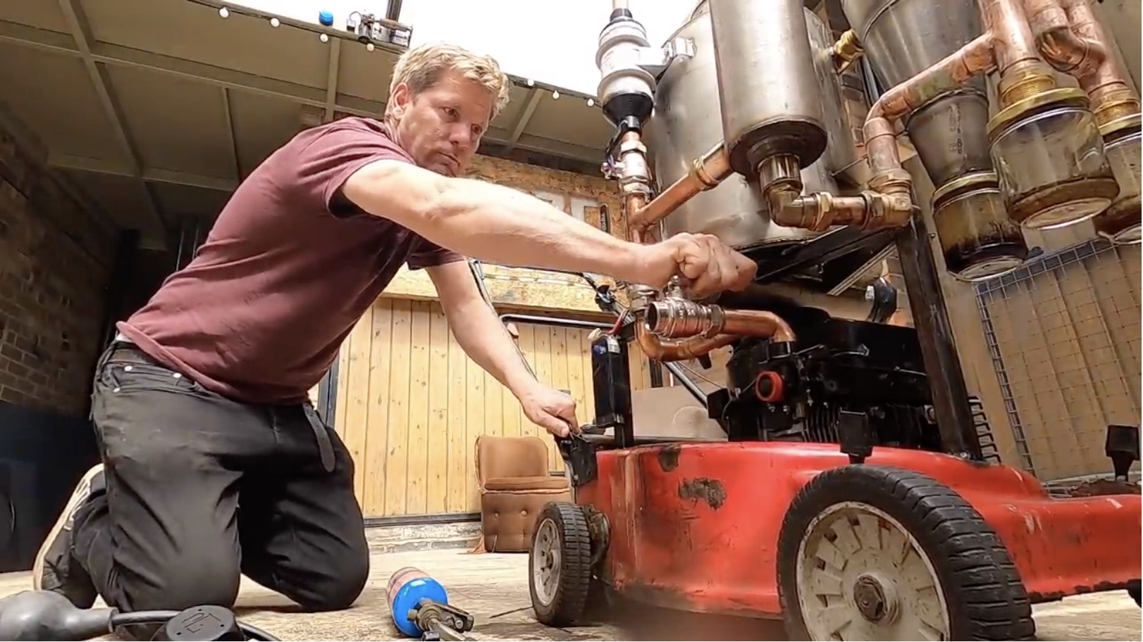 Wood-Fired Lawn Mower: Colin Furze Is At It Again!
