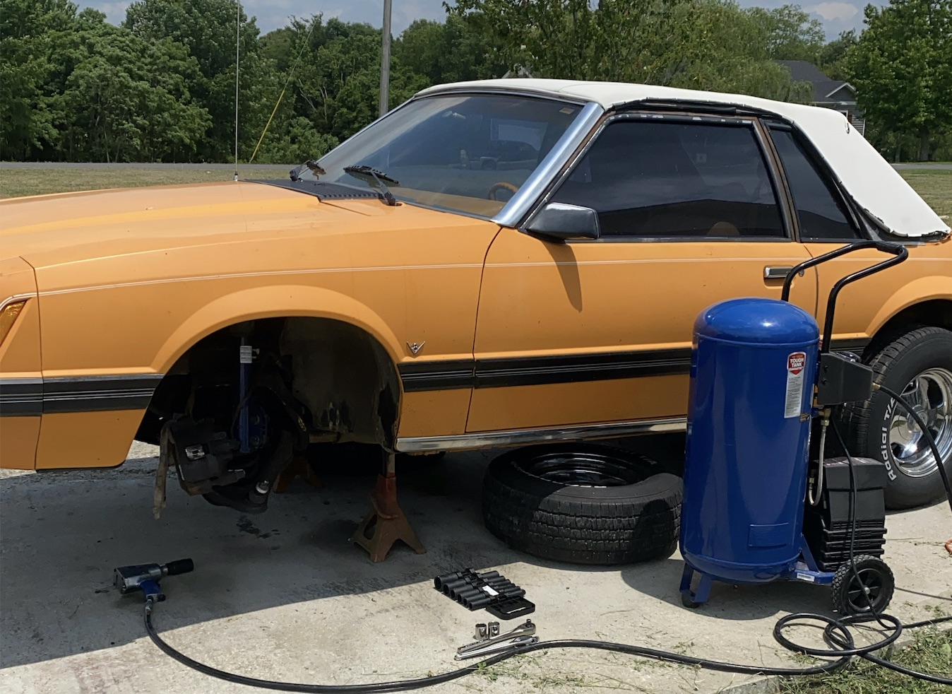 Project Great Pumpkin Mustang: The PITA Front Suspension Drama