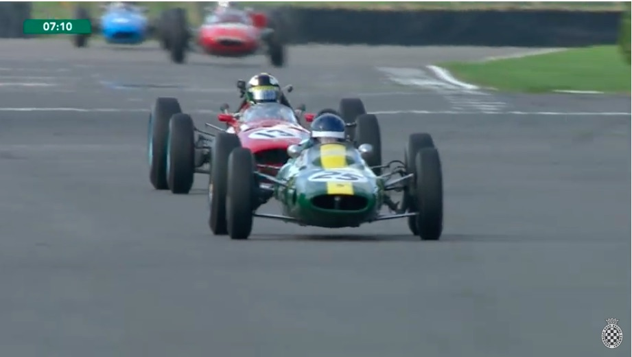 Watch A V12 Ferrari and a V8 Powered Lotus Battle At Goodwood – Jimmy Clark Drove The Lotus When It Was New!
