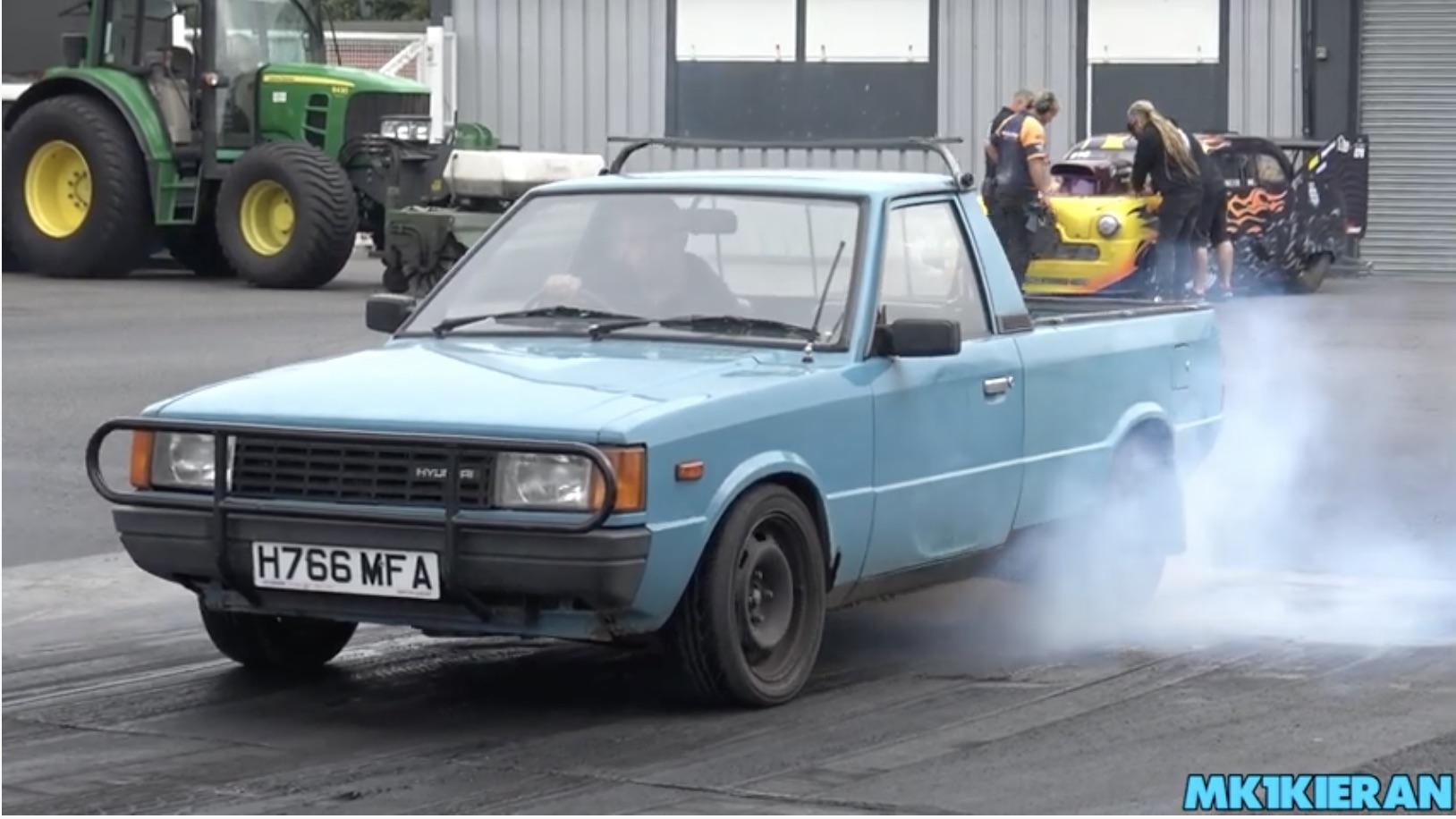 Morning Symphony: A Hyundai Pony Ute Packing Euro Ford Power