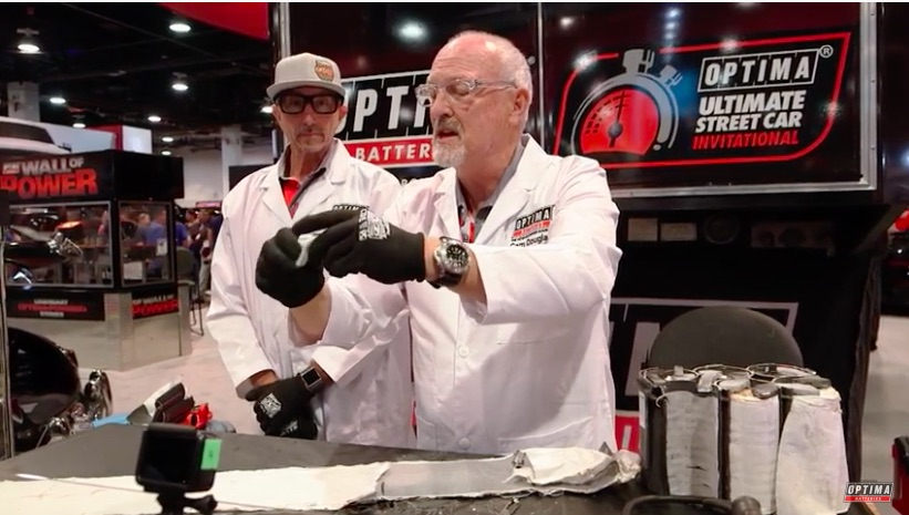 Power To Its Core: This Neat Demonstration Shows An Optima Battery Powering Its Own Deconstruction!