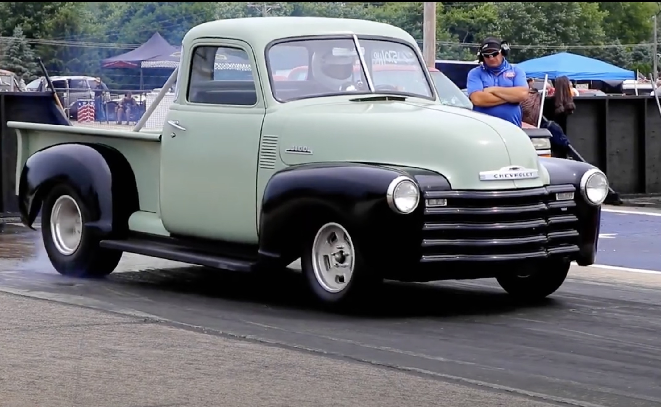 Morning Symphony: 292-Powered 1950 Chevrolet Truck On Alcohol!