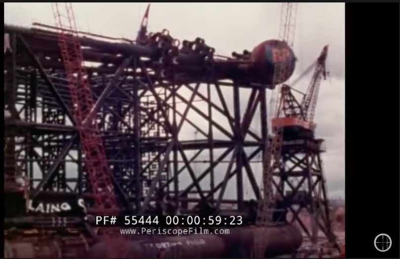 Large And In Charge Video: The Construction And Transportation Of Graythorpe 1 – The World's Largest Oil Rig In 1974
