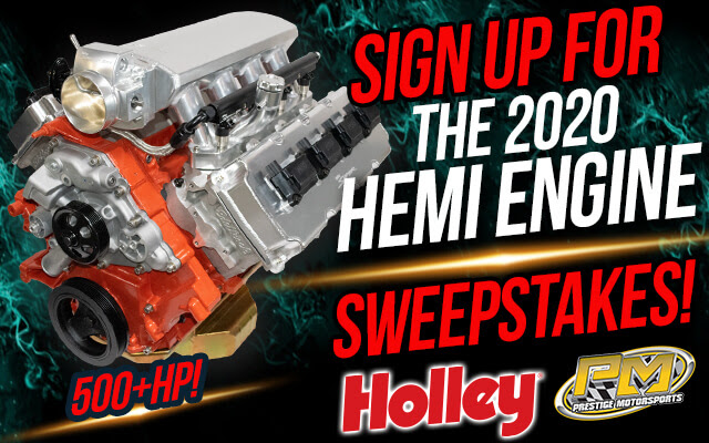 Sign Up Now For Holley's 2020 HEMI Engine Giveaway! You Can Win This Engine Package Worth Nearly $15,000!