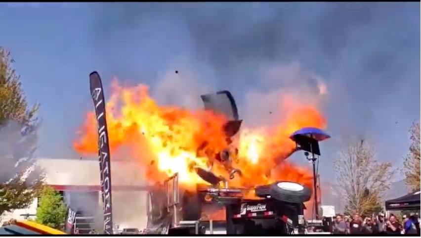 Astonishing Carnage: Watch As The Industrial Injection Master Shredder Truck Explodes In Flaming Fury