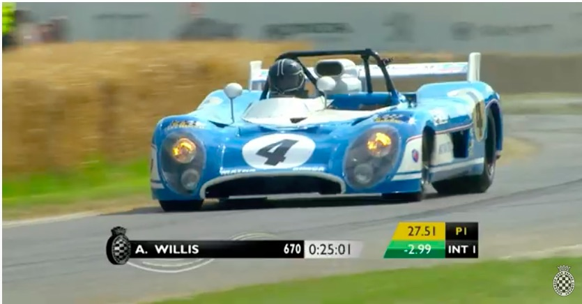 Sound and Fury: Ride In and Watch Outside Of A Vintage Matra-Simca Sports Prototype Racer At Goodwood – Wild!