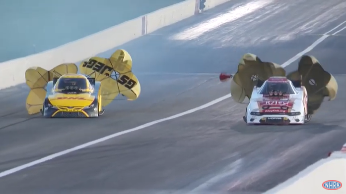 NHRA Mello Yello Drag Racing From The U.S. Nationals At Indy! The Action Is Already Getting Hot And Heavy