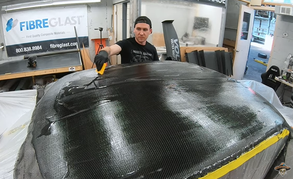 Wanna Build Your Own Carbon Fiber Roof? Watch These Guys Do It To A 1977 Toyota. You Can Do This Too!