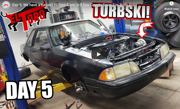 Day 5: El Toro Update. Build An 8-second Car In 8 Days! They Are Jamming Now