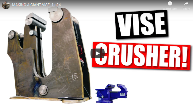Watch The Most Insane Giant Vise You Have Ever Seen, Get Built By Fireball Tools