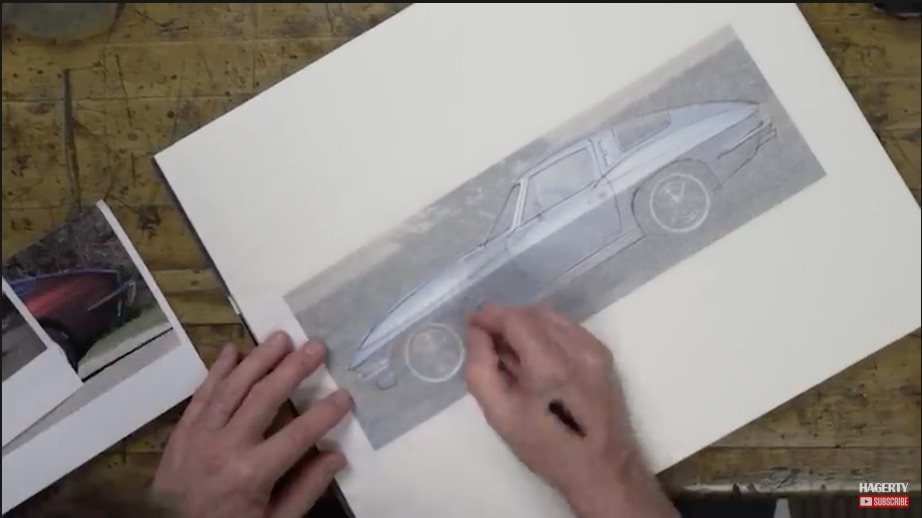 Gettin' Sketchy: Watch Chip Foose Draw Up His Dream Version Of A 1963 Split Window Corvette