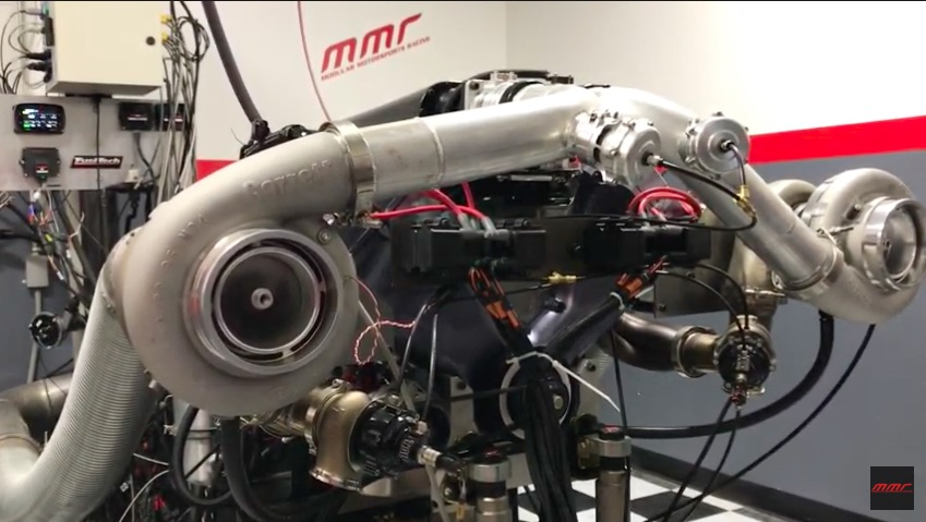 Total Beast: Watch This MMR GenX Coyote Engine Turn 10,000 RPM With Twin 94mm Turbos – 4,000hp!