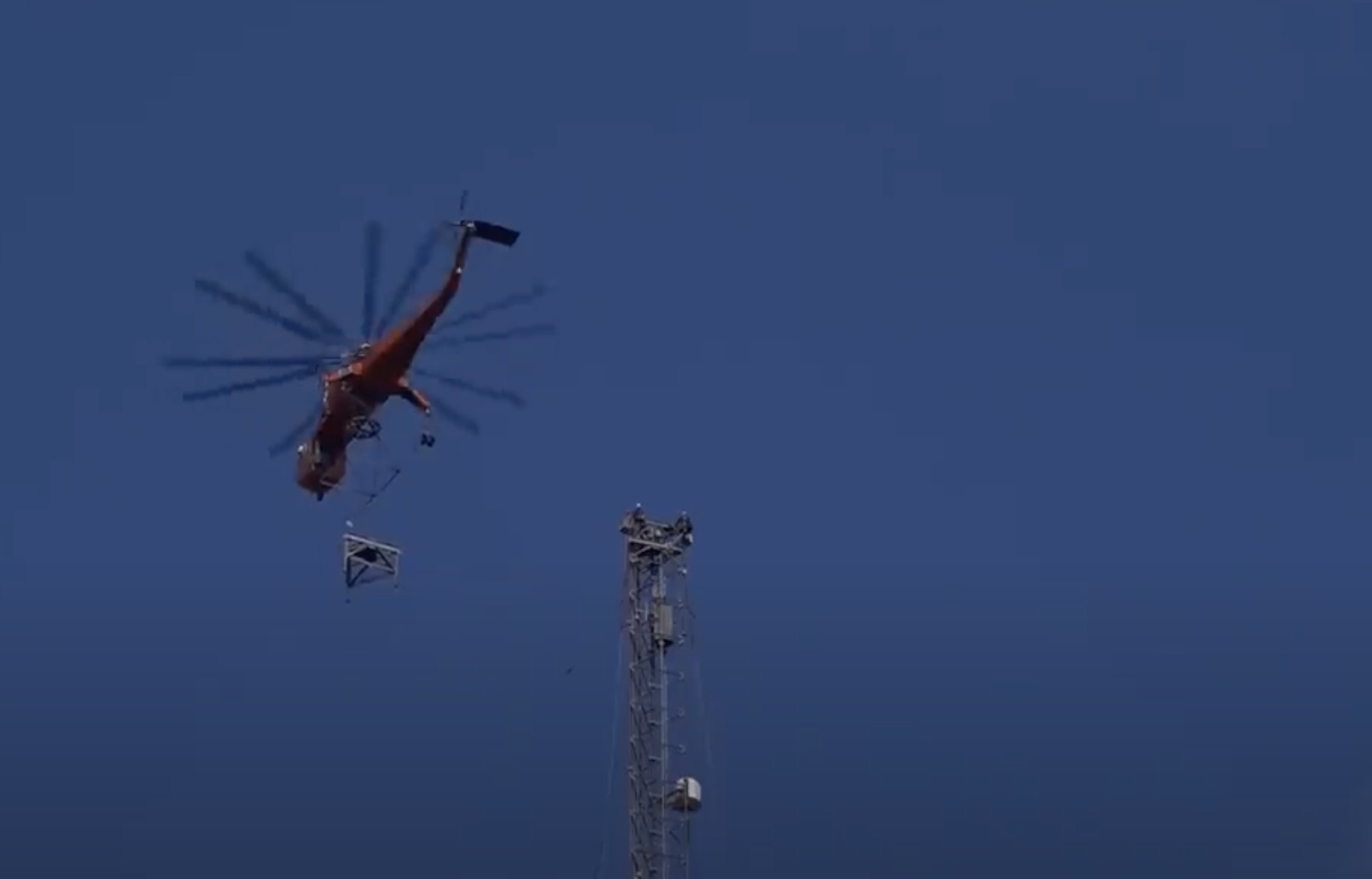 A Thousand Times No: Get A Hawk's Eye View As A Television Antenna Gets Built