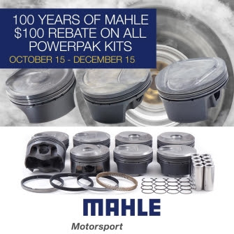 MAHLE Motorsport Celebrates a Century of MAHLE Automotive Innovation – Announces $100 PowerPak Piston Rebate