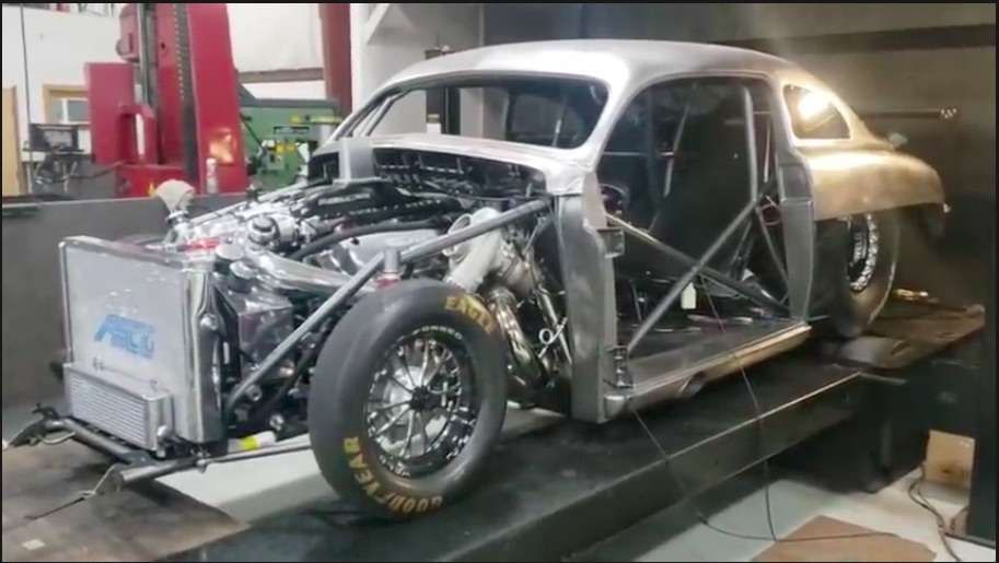 Mental Mercury: Watch This 1949 Mercury Bound For Drag Week Make 2,000 Horsepower On The Dyno!