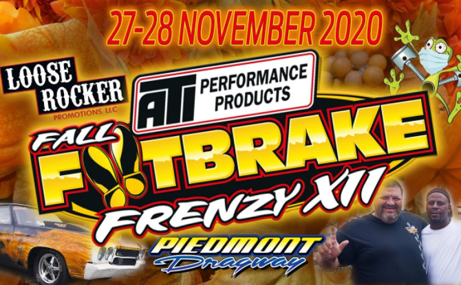 12th Annual Fall Footbrake Frenzy Bracket Racing Action LIVE From Piedmont Dragway