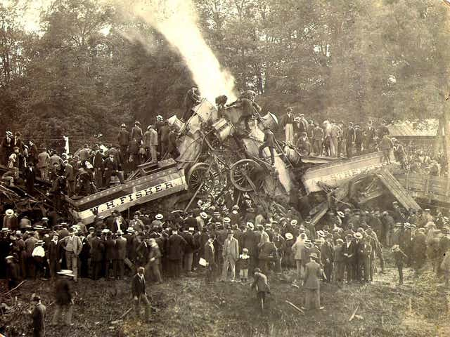Twisted Steel And Sex Appeal: The Weird History of America's 40 Year Obsession With Staged Train Wrecks