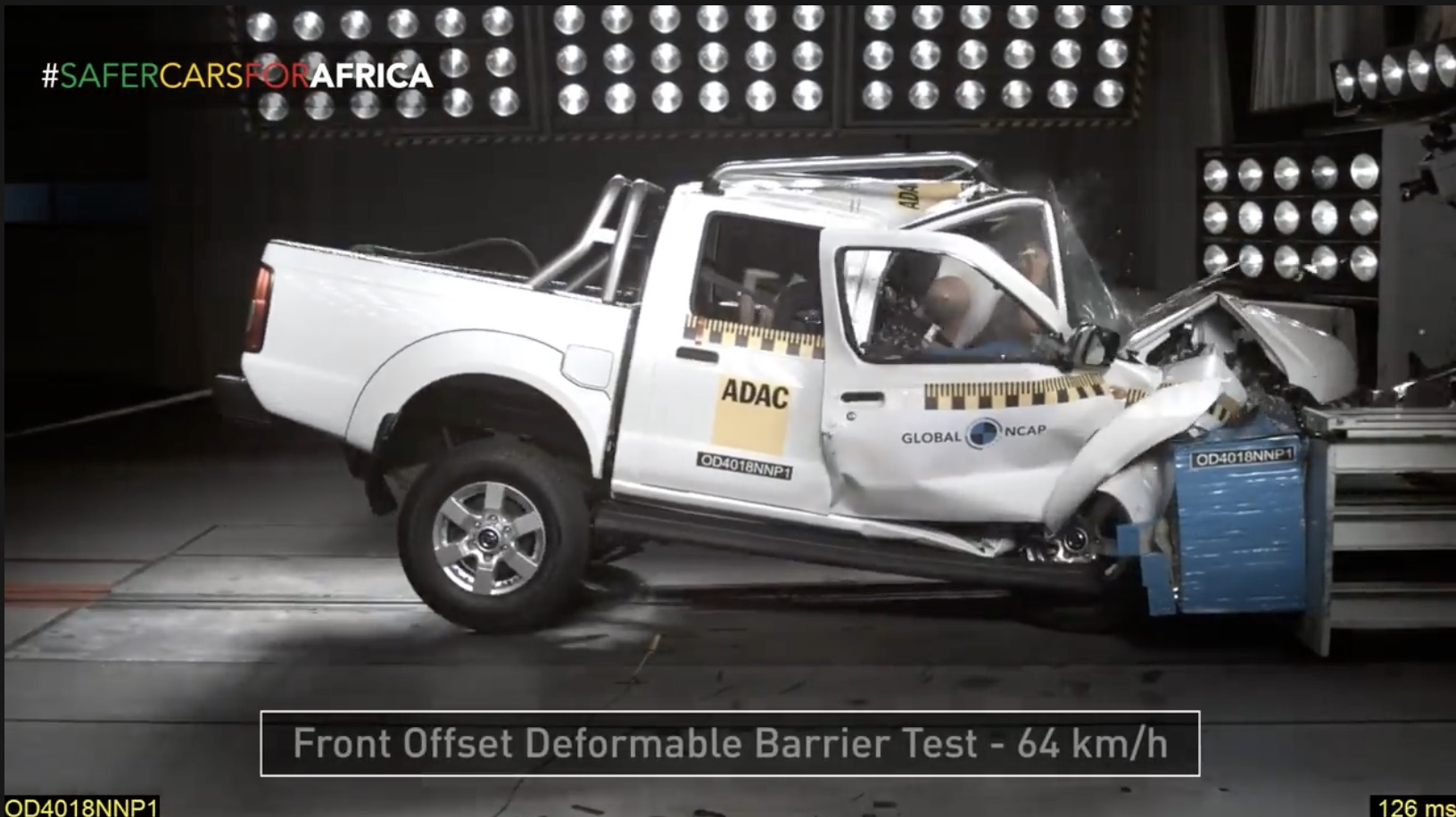 Rename, Stat: Watch As The Nissan NP300 Hardbody Folds Up Like Origami In A Crash Test