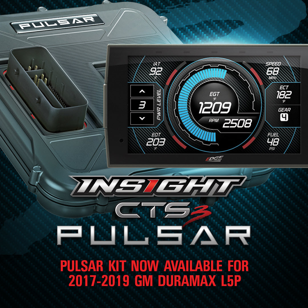 Duramax Owners Rejoice: Edge Pulsar + Insight CTS3 Kit For 2017-2019 GM 6.6L L5P Duramax Is Here