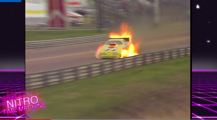 Hot Shoe: Watch Kenji Okazaki Suffer A Massive Funny Car Fire At Houston In 1993 – Some Never Before Seen Video