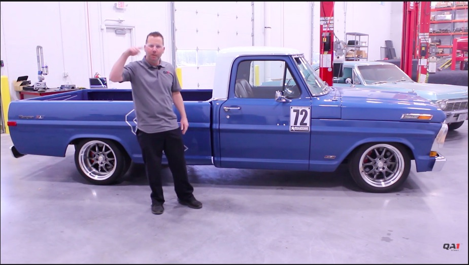 Pro Touring Truck: This Profile Of The QA1 New Blue 1972 Ford F100 Will Make You Want A Corner Burning Rig