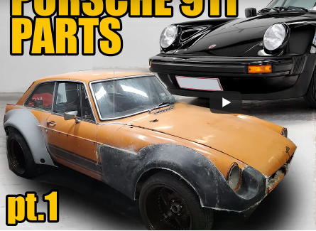 Widebody Your Whip! Watch This MGB Get A Porsche Wide Body Kit At Home!