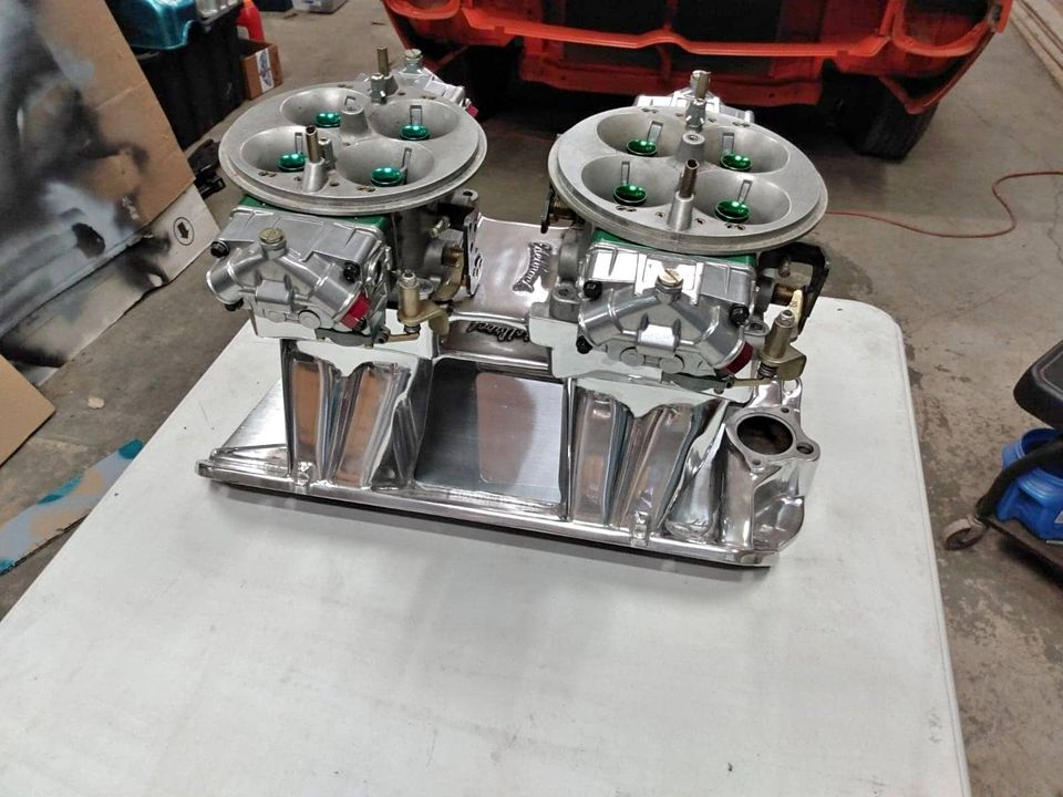 Oddball Speed Parts You Don't See Every Day: An Edelbrock AMC Tunnel Ram With DUAL 1050 Holley Dominator Carbs