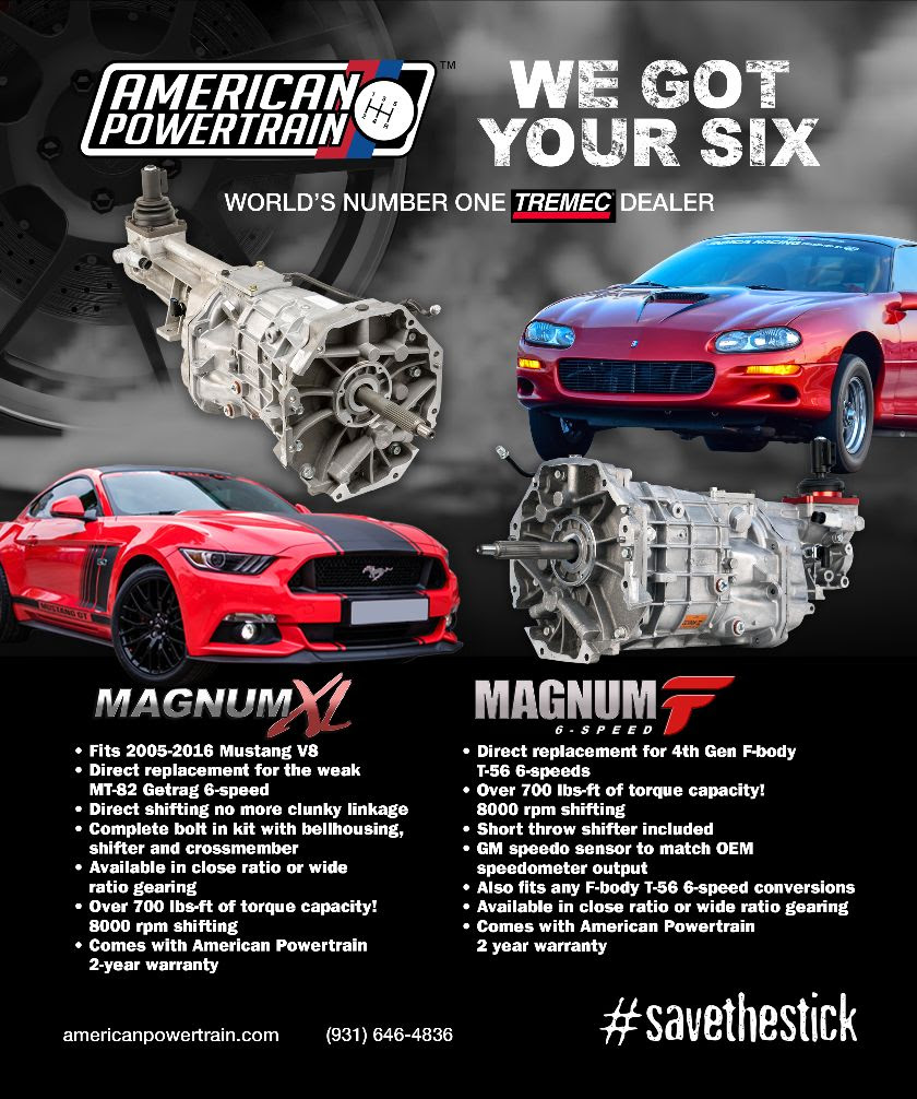 Camaro And Mustang Guys Rejoice. We've Got Direct Fit 6-Speed Kits Just For You Right Here! Late Model OR Early Model!