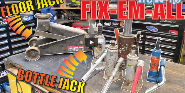 Don't Throw Away That Leaking, Slow, Busted Floor Jack Or Bottle Jack In The Garage. Fix It, It's Easy!