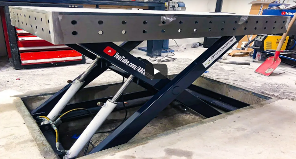 This Hydraulic Welding Table Build Is An Awesome, And Useful, Addition To The Shop!