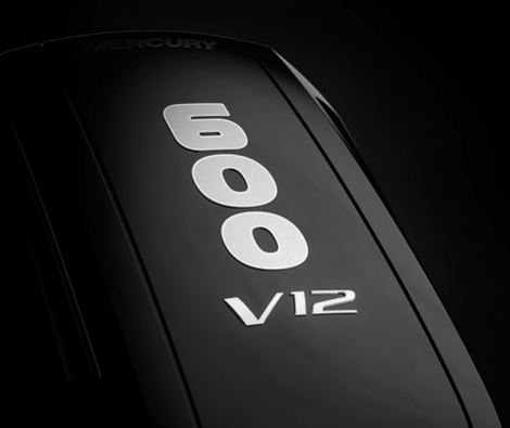 Check Out The New 600 Horsepower V12 Outboard From Mercury Marine. This Thing Is High Tech Big Power Greatness.