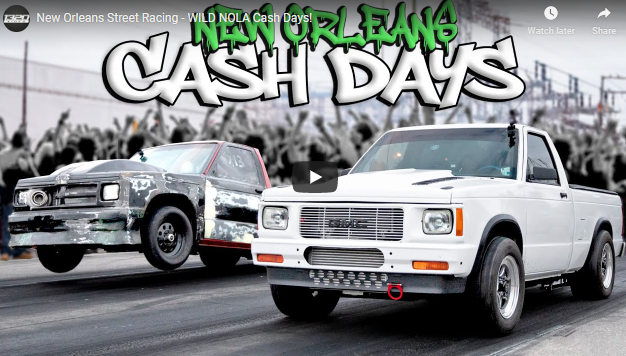 Cash Days New Orleans Video Coverage Right Here! Wheels Up Street Racing In The South At Da Pad!
