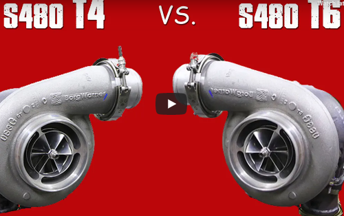 Junkyard Stock Bottom End LS T4 VS T6 S480 Turbo Test. Which Makes More Power And Where?