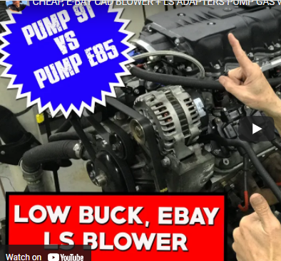 Cheap eBay Caddy Blower: How Much Power Will It Make On E85 Instead Of Pump Gas?