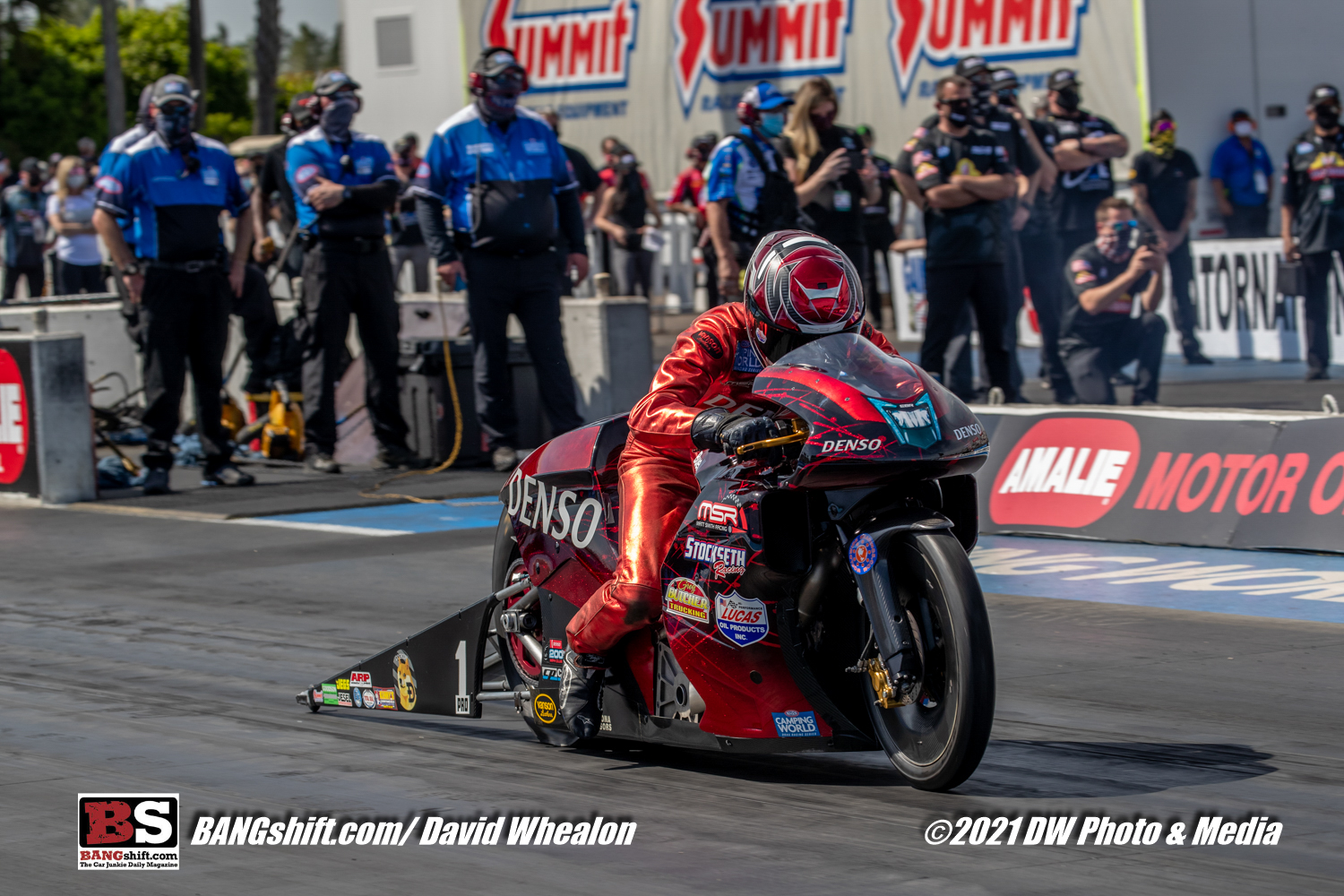 2021 Amalie Oil Gatornationals Action Photo Coverage: Mean Hunks Of 'Cicle In Pro Stock Bike and Nitro Harley!