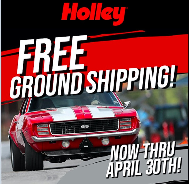 Holley Is Offering Free Shipping On Orders Over $100 For The Next MONTH – Take Advantage And Save!