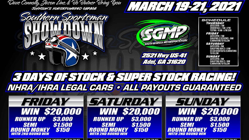 The Stock and Super Stock Southern Sportsman Showdown Starts This Morning!