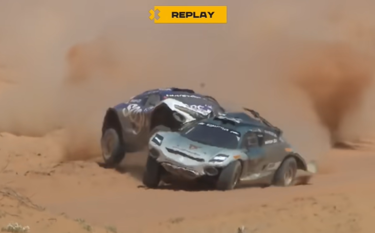 Watch The Extreme E Shootout Race And Grand Prix Highlights From The Saudi Arabian Desert