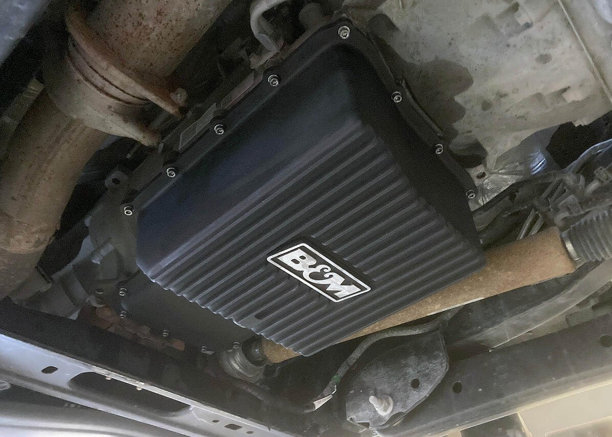 Check Out B&M's New B&M HI-TEK Deep Transmission Pan for 2011-2021 Ford F250/F350 With 6R140 Transmission