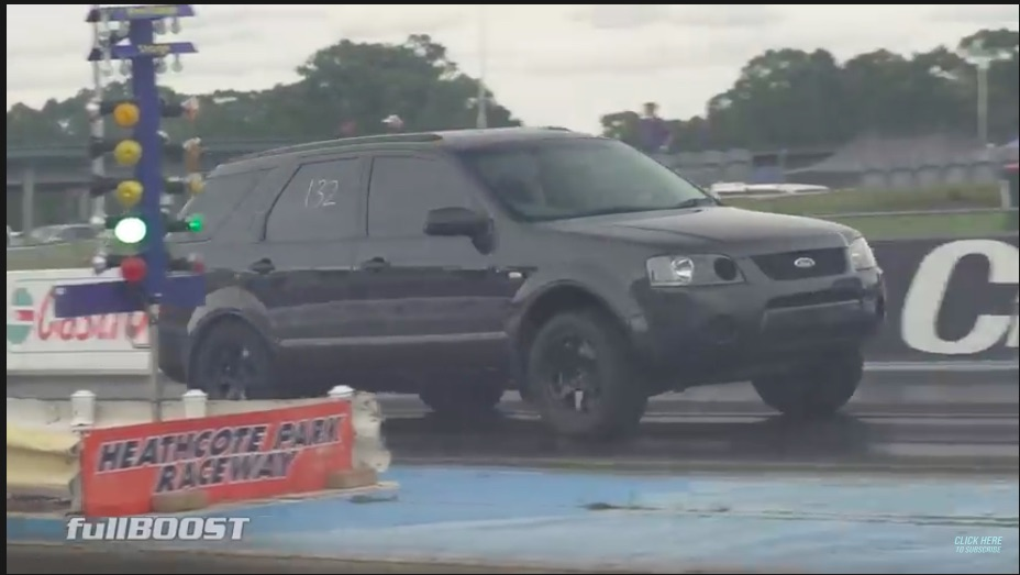 Stampeding Elephant: This 5,300lb Aussie Ford Territory Uses A Barra Six To Run Bottom 9s In The Quarter Mile