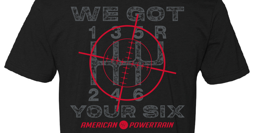 We Got Your Six Shirts Available Now: Show Your Love For 6 Gears To Grab While Supplies Last!