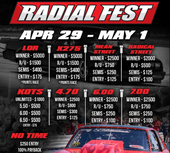 FREE LIVE STREAM: Radial Fest Is LIVE Right Here From Huntsville Dragway