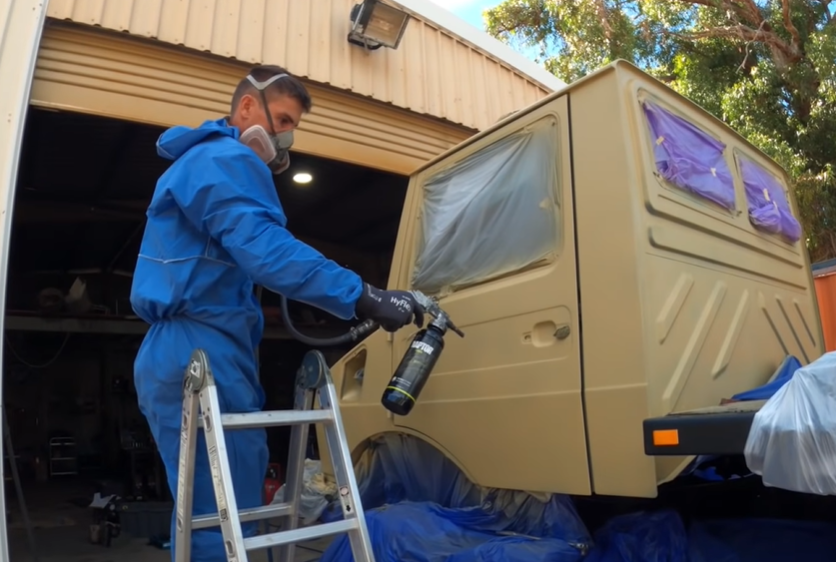 The Unimog Expedition Rig Project Gets Raptor Lined! The Color Change And Durability Is Dramatic