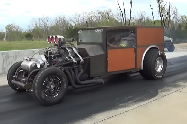 Update: We Got More Info On Wes Littrell's Home Built Retro Drag Special. Its Ford Powered, Blown, And Hauls Ass. We Love It!