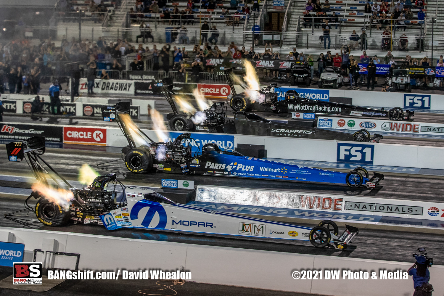 NGK NTK NHRA Four-Wide Nationals Nitro Photos: Header Flames Up And Hammer Down In Charlotte!