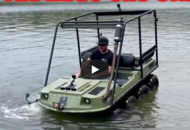 Finnegan Traded A Squarebody Suburban For A 6×6 Amphibious ATV And Drove It Straight Into The Lake