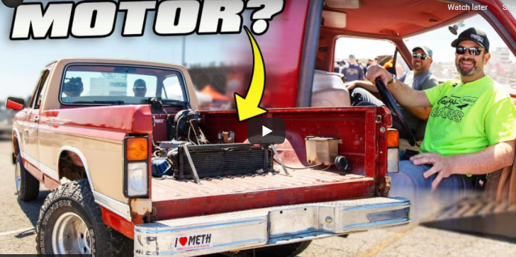 This Backwards F-150 Was The Best Thing At Cleetus And Cars Burnout Masters Indy. Period. It's Been Pulled Over 22 Times!