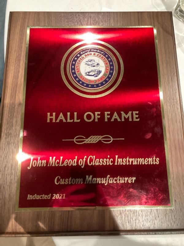 Congratulations To Classic Instruments' Owner John McLeod On Being Inducted To The Daryl Starbird Rod And Custom Hall Of Fame