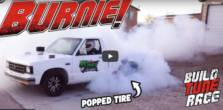 When Last Minute Testing Your Burnout Truck For Cleetus And Cars, Sometimes Your Driveway Becomes The Burnout Pad